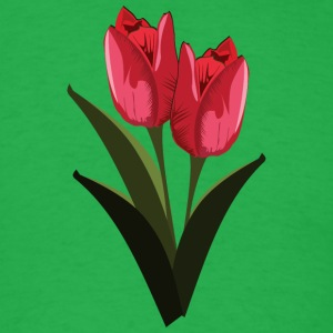 Red Tulips - Men's T-Shirt