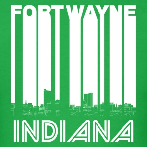 Retro Fort Wayne Indiana Skyline - Men's T-Shirt