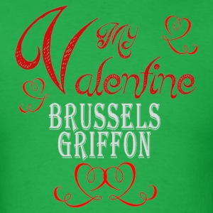 A romantic Valentine with my Brussels Griffon - Men's T-Shirt