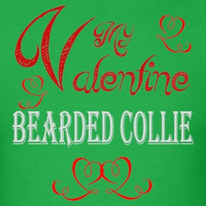 A romantic Valentine with my Bearded Collie - Men's T-Shirt