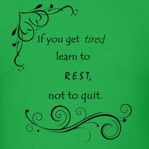 Learn to Rest - Men's T-Shirt