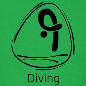 Diving_black - Men's T-Shirt