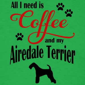 Airdale Terrier Coffee - Men's T-Shirt