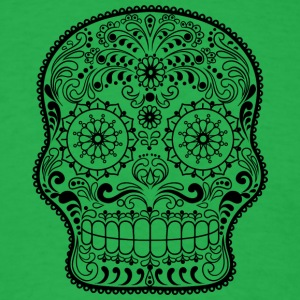 sugar_skull_black - Men's T-Shirt