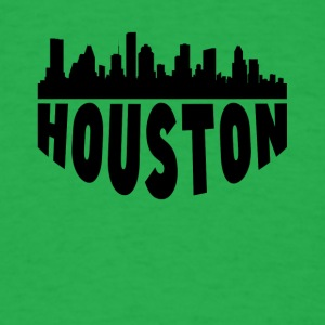 Houston TX Cityscape Skyline - Men's T-Shirt