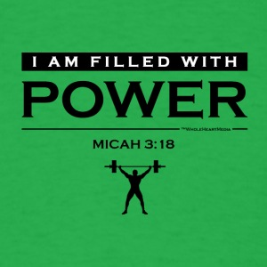 Power Filled (logo) - Christian Fitness Apparel - Men's T-Shirt
