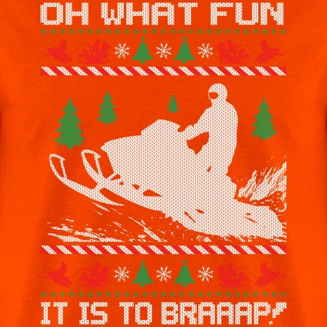 Snowmobile Fun Christmas