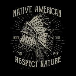Native american - respect nature