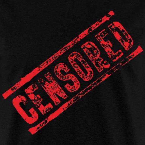 Censored Stamp | Red - Men's T-Shirt