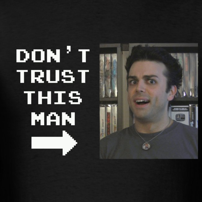 do not trust pat shirt white letters