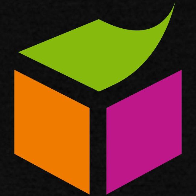 Semantic Web Cube orange green pink