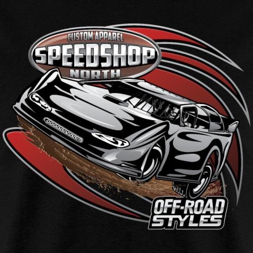 Dirt Race Car - Men's T-Shirt
