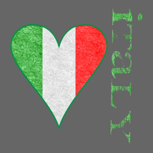 distressed italy heart square - Men's T-Shirt