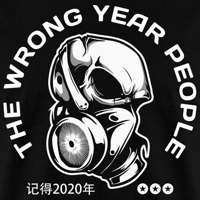 wrong year 2020 covid mask