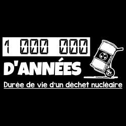 1 000 000 d\'années: Durée de vie d\'un déchet nucléaire