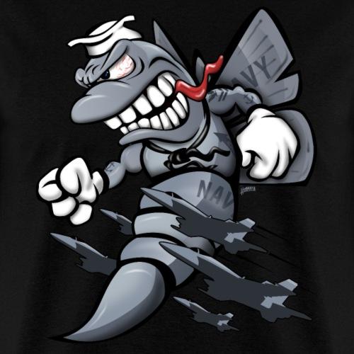 F/A-18 Hornet Fighter Attack Military Jet Cartoon - Men's T-Shirt