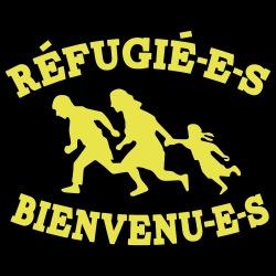 Réfugié-e-s bienvenu-e-s