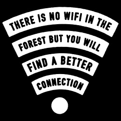 There is no wifi in the forest but you will find a better connection