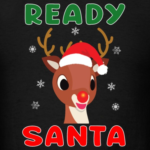 Rudolph Red Nose Reindeer Christmas Snowflakes. - Men's T-Shirt