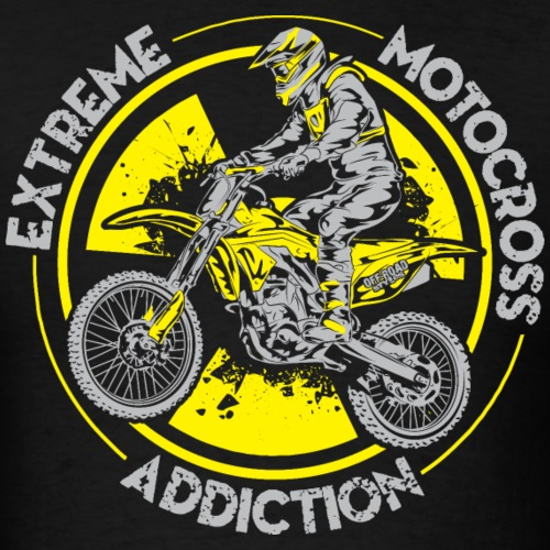 Extreme MotoX Addiction - Men's T-Shirt