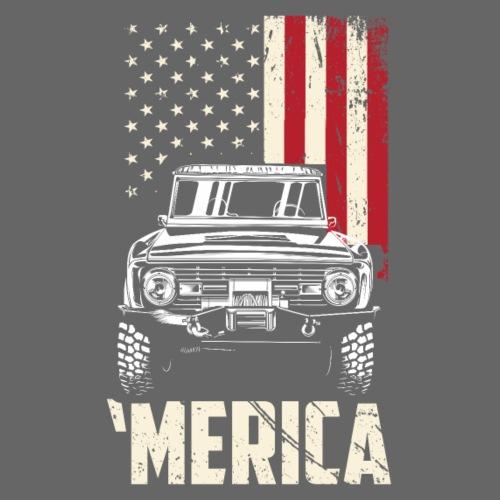 Bronco 'merica T-Shirt - Men's T-Shirt