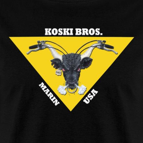 Koski Brothers Bull Logo2 - Men's T-Shirt