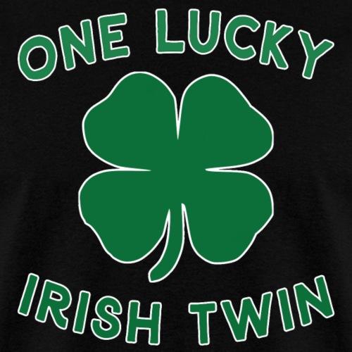 Lucky Twin St Patrick Day Irish Shamrock Gift. - Men's T-Shirt