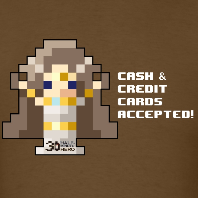 Time Goddess - Cash and Credit Cards (White text)