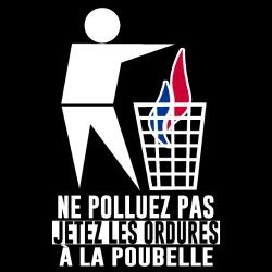 Front National - Ne polluez pas, jetez les ordures à la poubelle