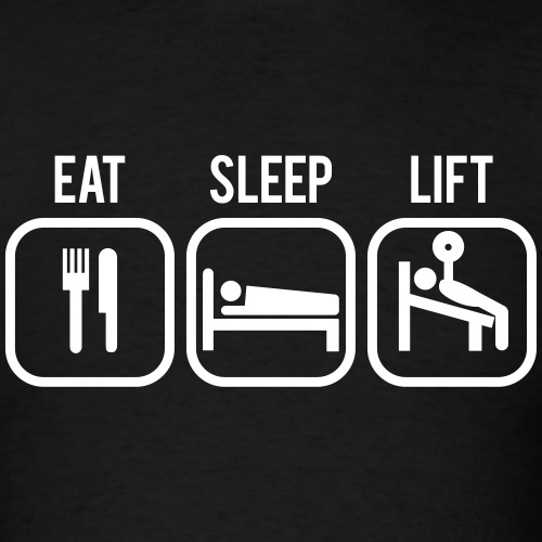 Eat, Sleep, Lift - Gym Motivation - Men's T-Shirt