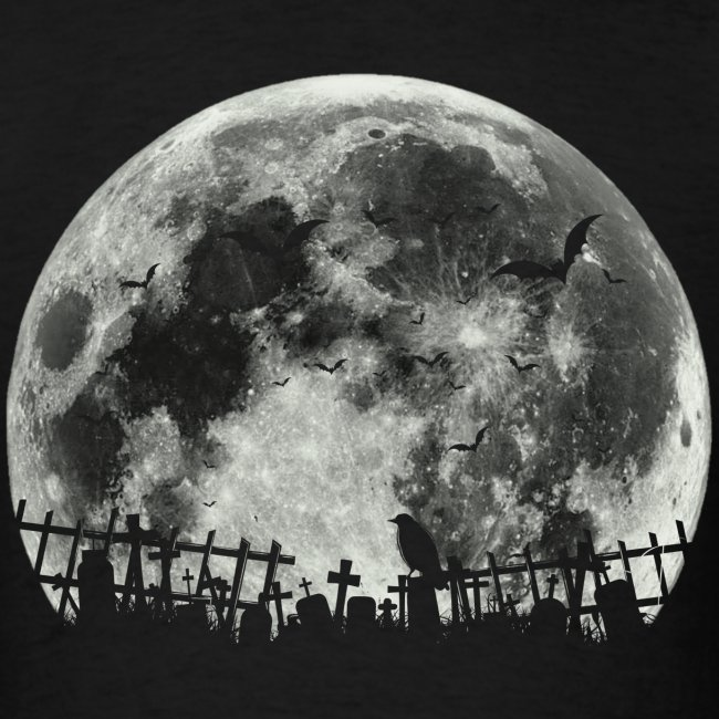 Scary Halloween moon