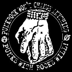 Punkrock won\'t change anything, punks with rocks will!