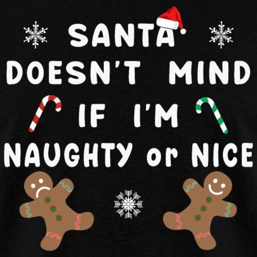 Santa Naughty or Nice Funny Kids Christmas Xmas. - Men's T-Shirt