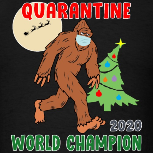 Quarantine World Champion Sasquatch Mask Christmas - Men's T-Shirt