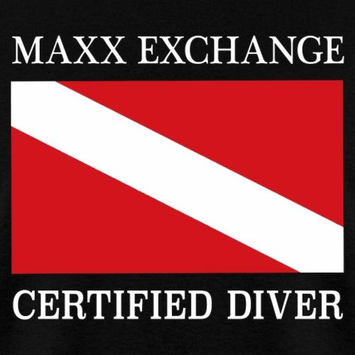 Maxx Exchange Certified Diver Frogman Snorkel. - Men's T-Shirt