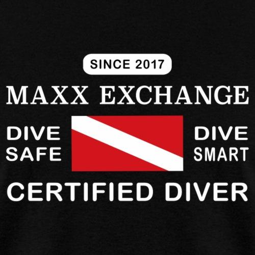 Maxx Exchange Certified Diver Wetsuit Snorkel. - Men's T-Shirt