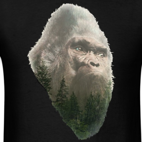 Forest King Sasquatch Bigfoot Portrait - Men's T-Shirt