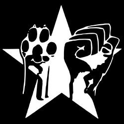 Animal Liberation Paw & Raised Fist