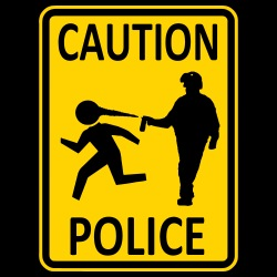 Caution police