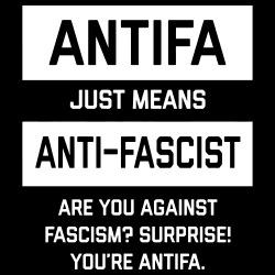 Antifa just means anti-fascist. Are you against fascism? Surprise! You\'re antifa.