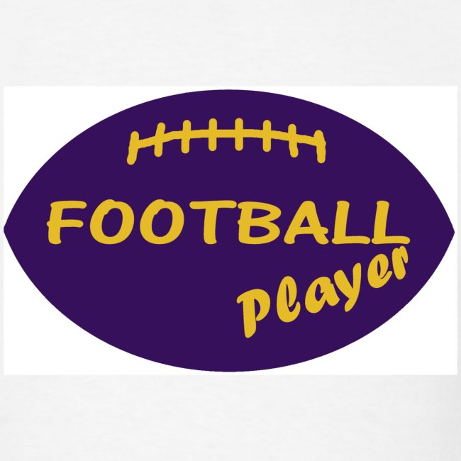 footballplayeryellowandpurple