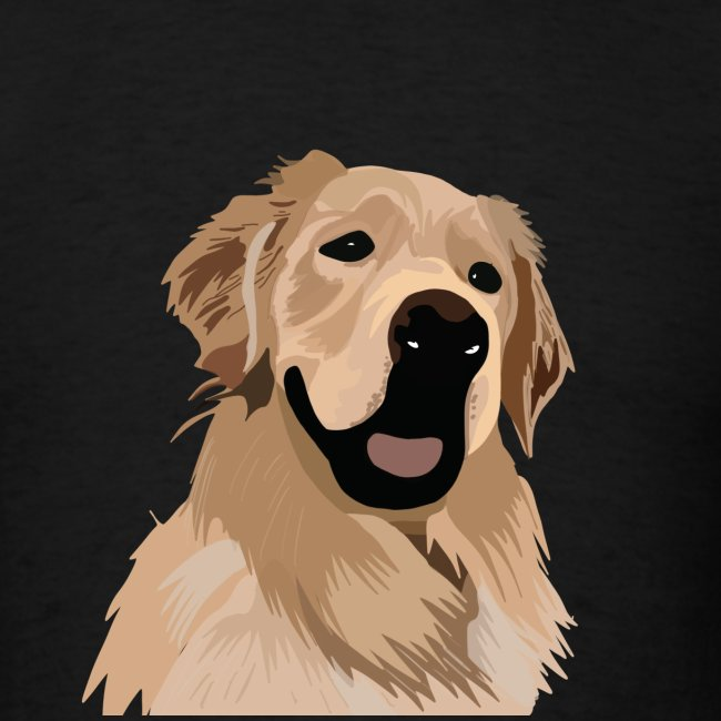 Hand illustrated golden retriever print / goldie
