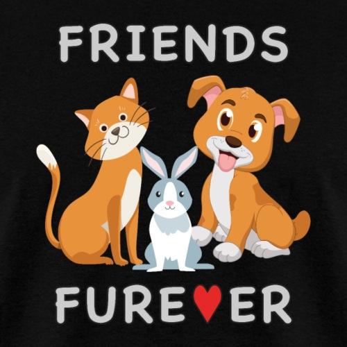 Friends Forever BFF Dog Cat Bunny Rabbit Kids Gift - Men's T-Shirt