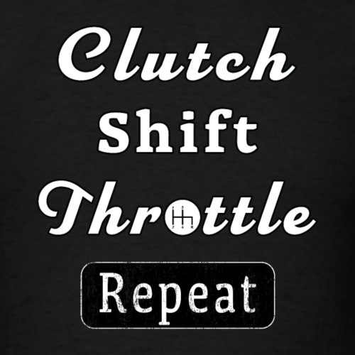Clutch Shift Throttle Muscle Car Race Mechanic Men - Men's T-Shirt