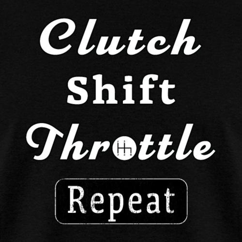 Clutch Shift Throttle Muscle Car Race Mechanic Men