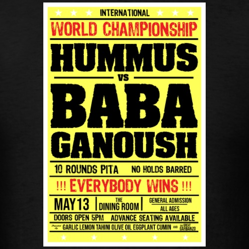 Hummus vs baba ganoush - Men's T-Shirt