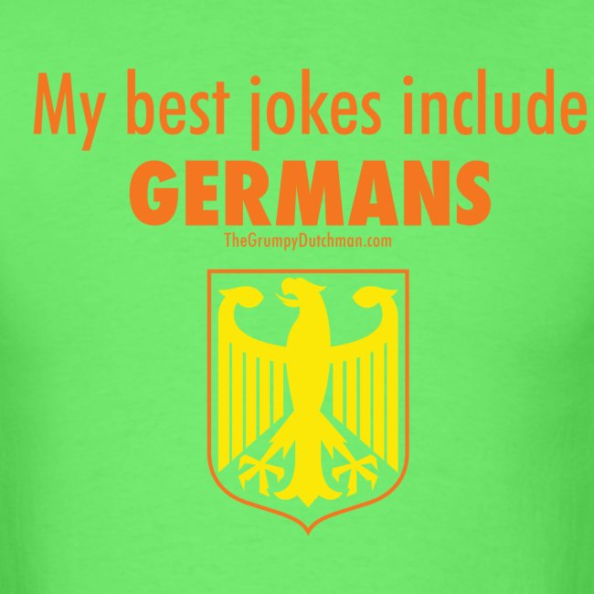 16 Germans colored lettering