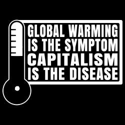 Global warming is the symptom, capitalism is the disease