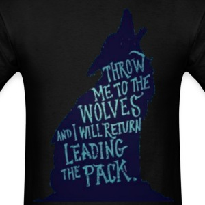 Wolf Pack Quote - Men's T-Shirt