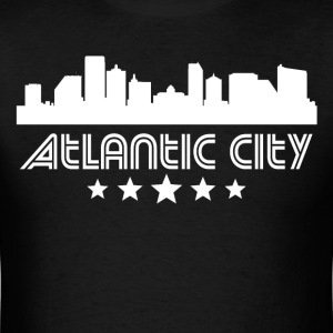 Retro Atlantic City Skyline - Men's T-Shirt